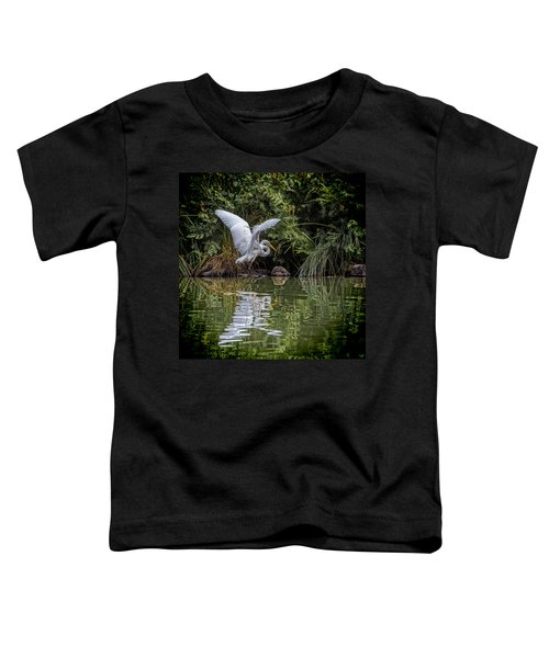 Egret Hunting For Lunch Toddler T-Shirt