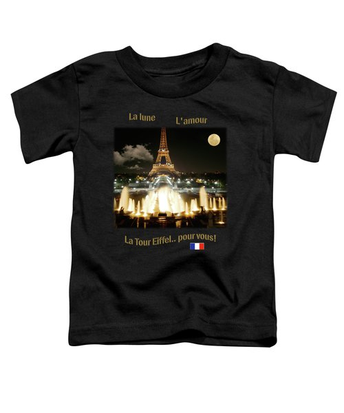Eiffel Tower At Night Toddler T-Shirt by Jon Delorme