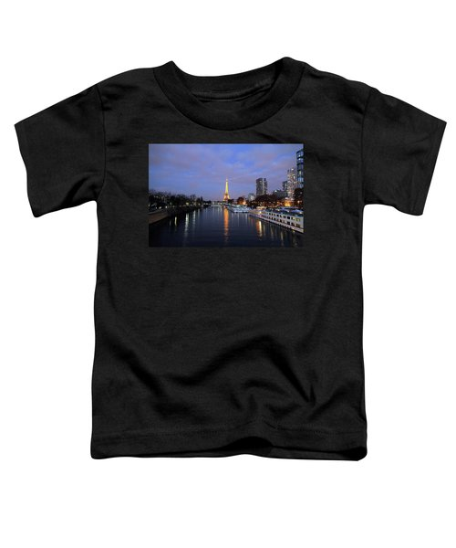 Eiffel Tower Over The Seine Toddler T-Shirt