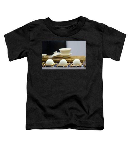 Elegant Chinese Tea Set Toddler T-Shirt