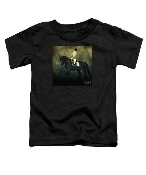 Elegant Horse Rider Toddler T-Shirt