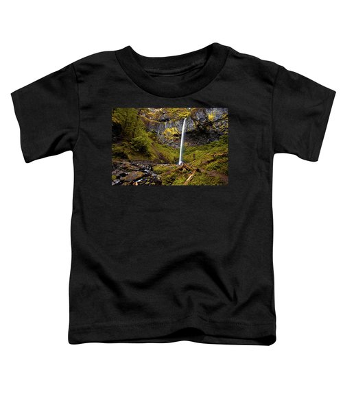 Elowah Falls Oregon Toddler T-Shirt