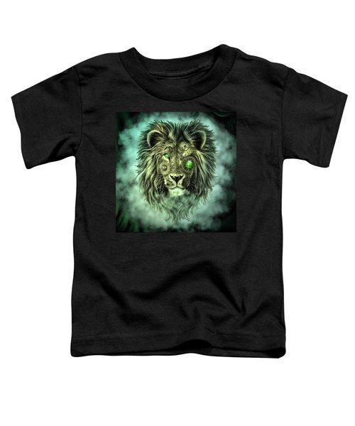 Emerald Steampunk Lion King Toddler T-Shirt