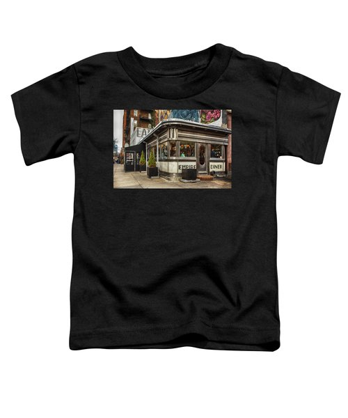 Toddler T-Shirt featuring the photograph Empire Diner by Alison Frank