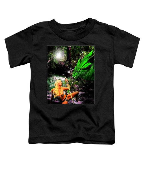 Encounter With A Dragon Toddler T-Shirt