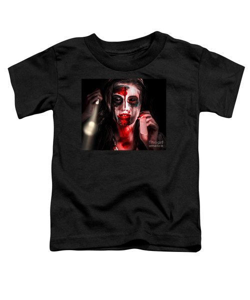 Evil Dead Dentist Performing Oral Examination Toddler T-Shirt