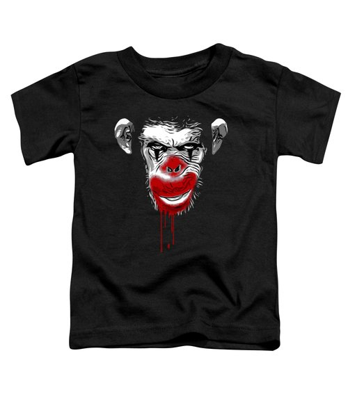 Evil Monkey Clown Toddler T-Shirt by Nicklas Gustafsson