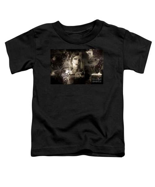 Evil Vampire Woman Looking Into Bloody Mirror Toddler T-Shirt