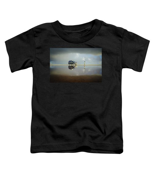 Exploring The Beach On A Rainy Day Toddler T-Shirt