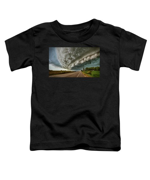 Toddler T-Shirt featuring the photograph Face In The Storm by Andrea Platt