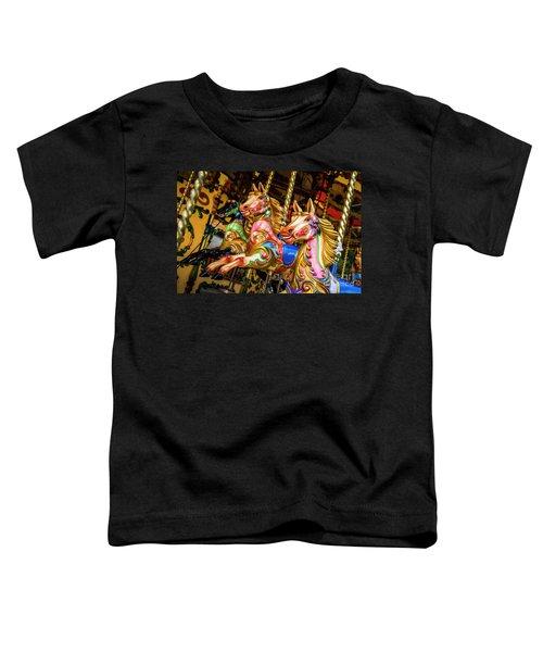 Fairground Carousel Horses Toddler T-Shirt