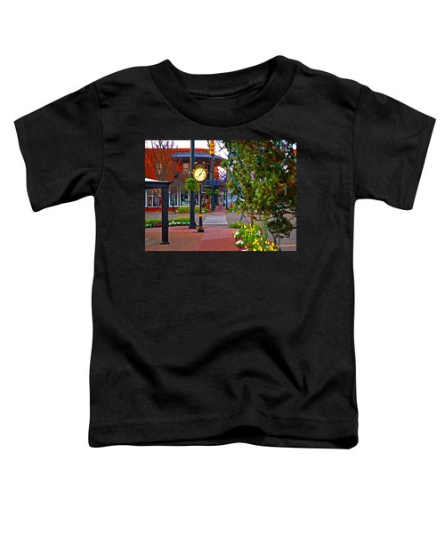 Fairhope Ave With Clock Down Section Street Toddler T-Shirt