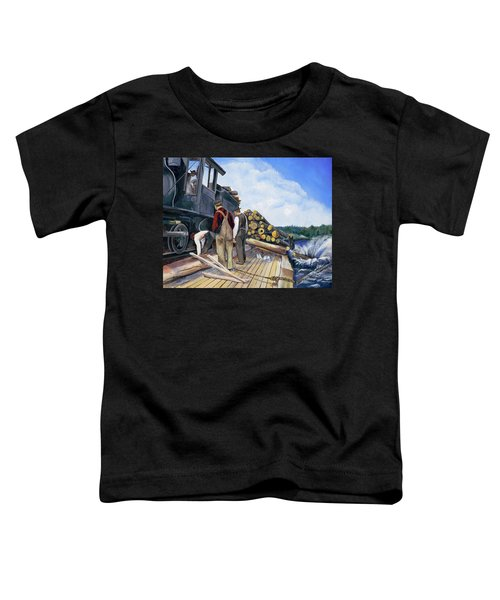 Fall Lake Train Toddler T-Shirt
