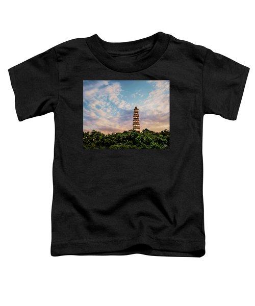 Far Distant Pagoda Toddler T-Shirt