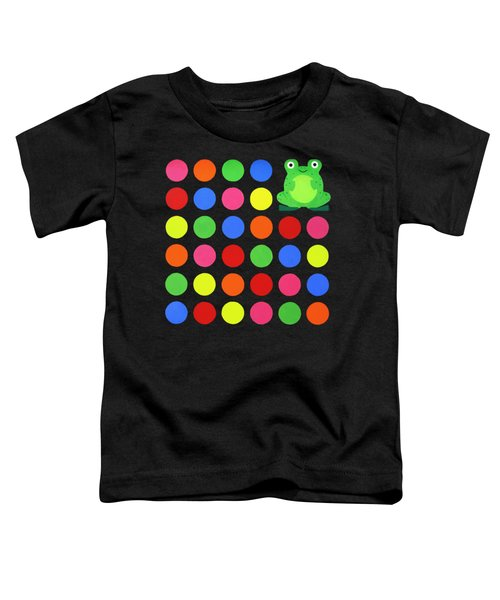 Discofrog Remix Toddler T-Shirt by Oliver Johnston