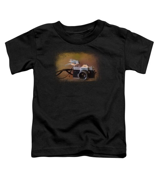 Feathered Photographer Toddler T-Shirt by Jai Johnson
