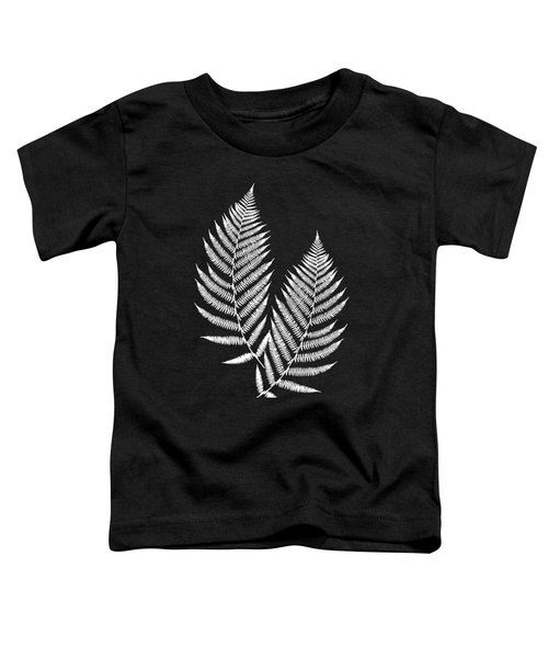 Toddler T-Shirt featuring the mixed media Fern Pattern Black And White by Christina Rollo