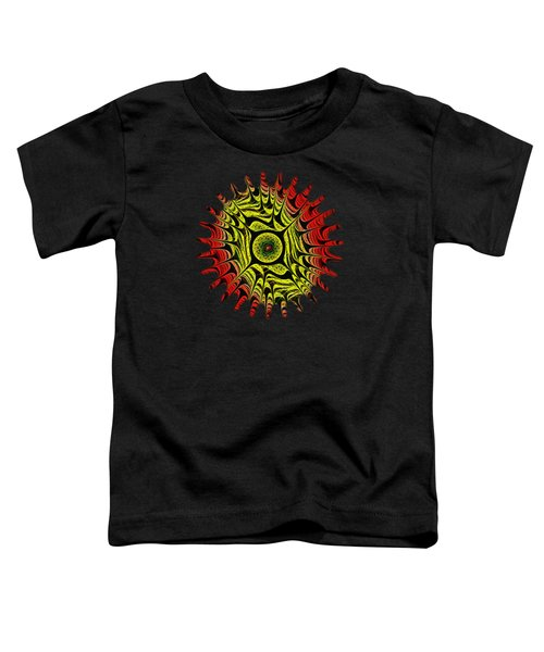 Fire Dragon Eye Toddler T-Shirt by Anastasiya Malakhova
