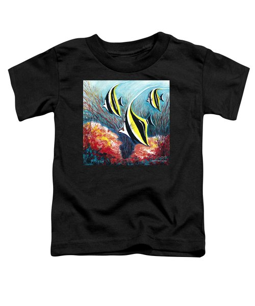 Moorish Idol Fish And Coral Reef Toddler T-Shirt