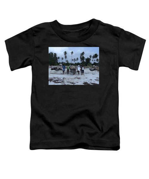 Fisherman Heading In From Their Days Catch At Sea With A Wooden Dhow Toddler T-Shirt