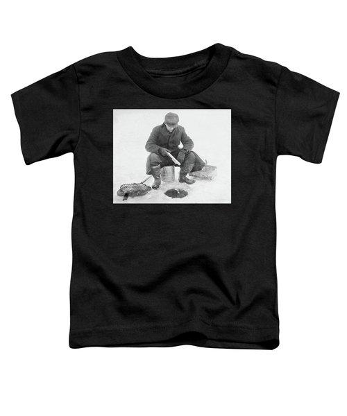 Fishing Through Ice Toddler T-Shirt