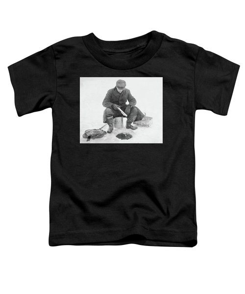 Fishing Through Ice Toddler T-Shirt