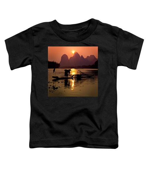 Fishing With Cormorants Toddler T-Shirt