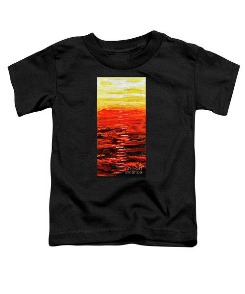 Flaming Sunset Abstract 205173 Toddler T-Shirt