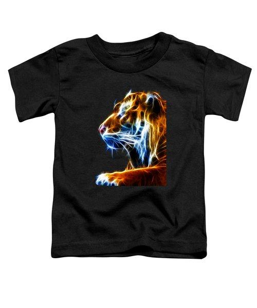 Flaming Tiger Toddler T-Shirt