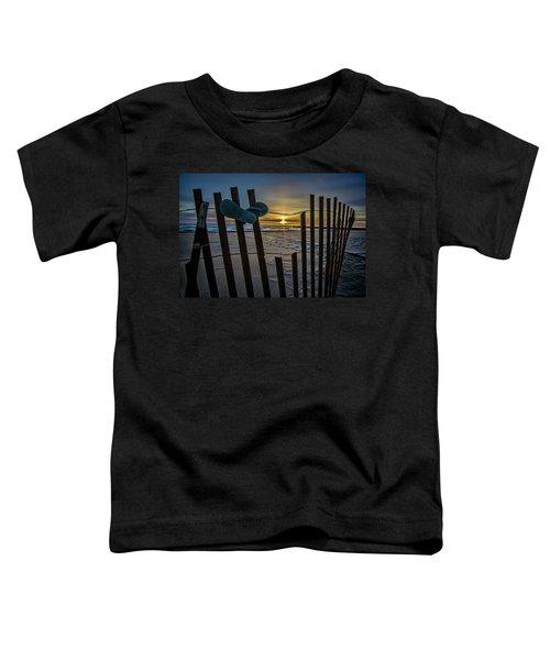 Flip Flops On A Beach At Sun Rise Toddler T-Shirt