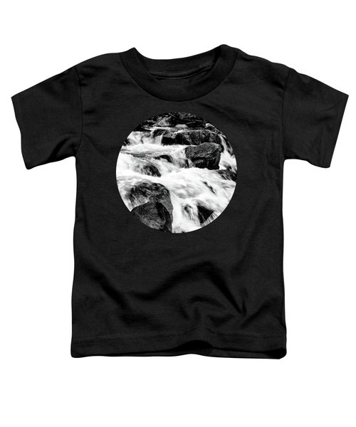 Flow, Black And White Toddler T-Shirt by Adam Morsa