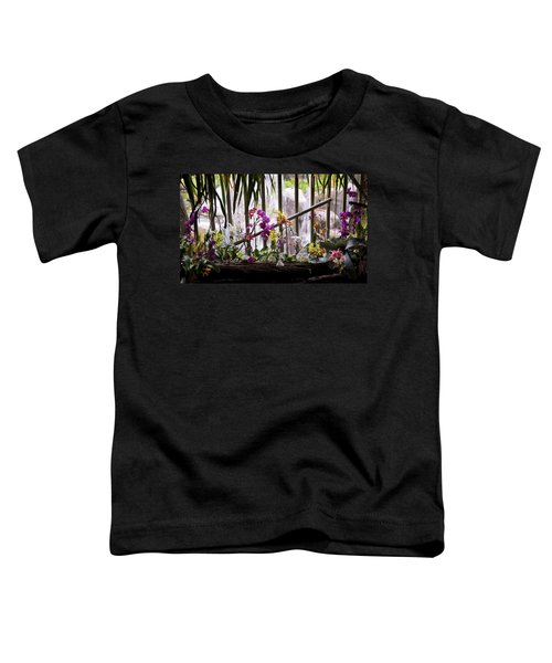 Flowers And Waterfall Toddler T-Shirt