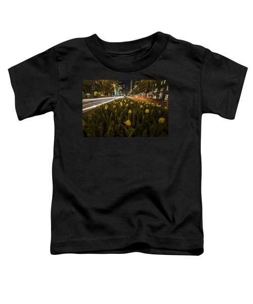 Flowers At Night On Chicago's Mag Mile Toddler T-Shirt