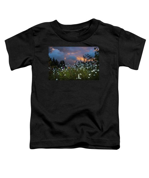 Flowers At Sunset Toddler T-Shirt