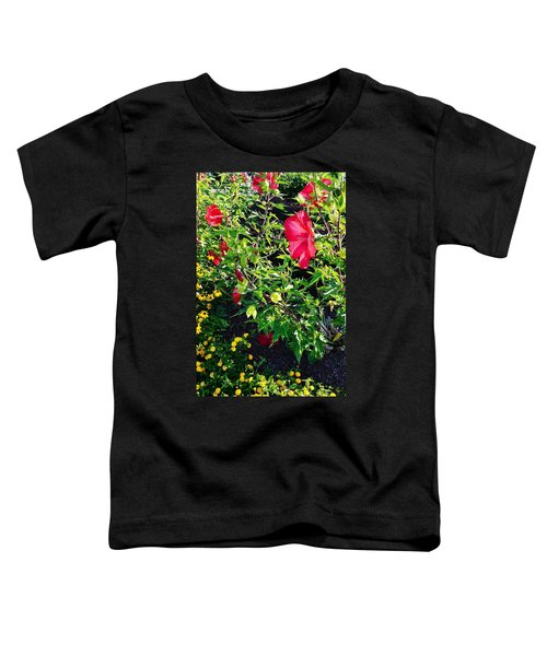 Flowers Of Bethany Beach - Hibiscus And Black-eyed Susams Toddler T-Shirt