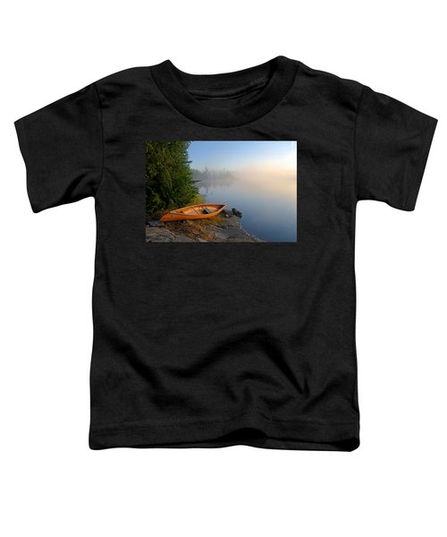 Foggy Morning On Spice Lake Toddler T-Shirt