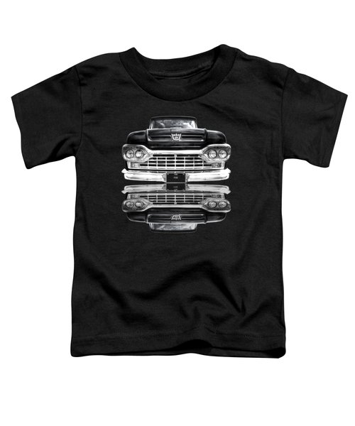 Ford F100 Truck Reflection On Black Toddler T-Shirt
