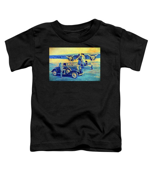 Ford Trimotor And 1931 Model A Roadster Toddler T-Shirt