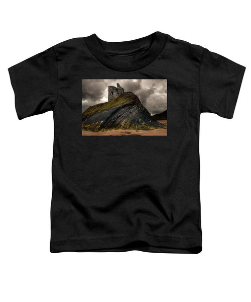 Toddler T-Shirt featuring the photograph Forgotten Castle In Ballybunion by Jaroslaw Blaminsky