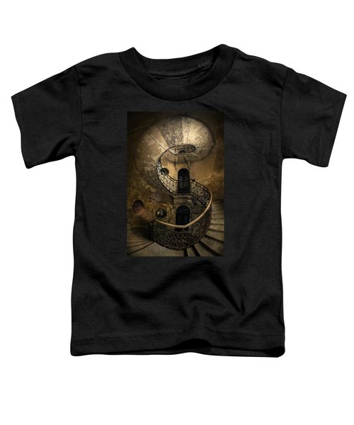 Toddler T-Shirt featuring the photograph Forgotten Staircase by Jaroslaw Blaminsky