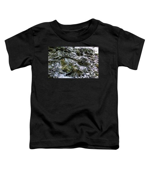 Toddler T-Shirt featuring the photograph Fossil In The Wall by Francesca Mackenney