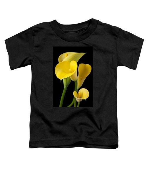 Four Yellow Calla Lilies Toddler T-Shirt