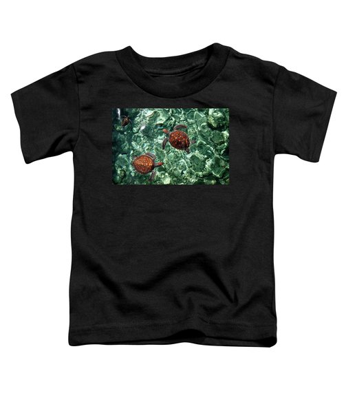 Fragile Underwater World. Sea Turtles In A Crystal Water. Maldives Toddler T-Shirt