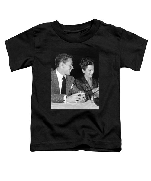 Frank Sinatra And Nancy Toddler T-Shirt by Underwood Archives