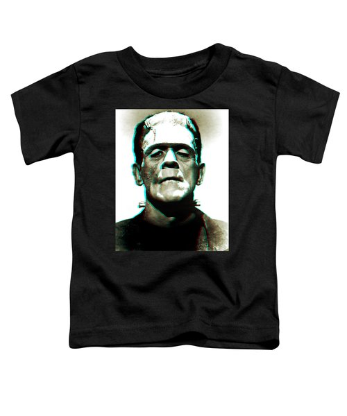 Toddler T-Shirt featuring the digital art Frankensteins Monster Karloff by Joy McKenzie