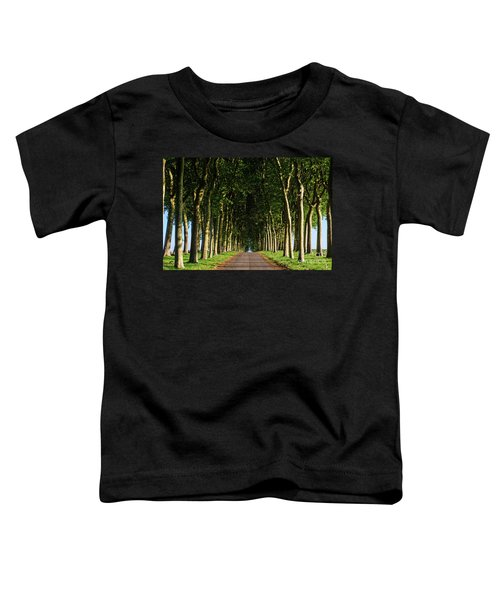 French Tree Lined Country Lane Toddler T-Shirt