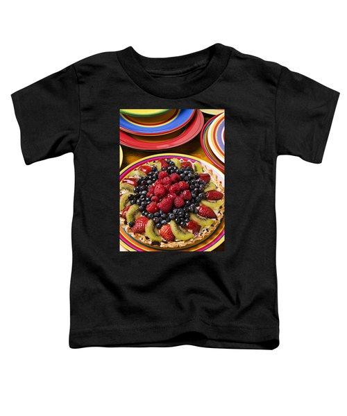 Fruit Tart Pie Toddler T-Shirt by Garry Gay
