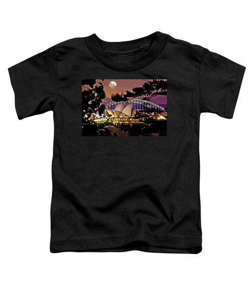 Full Moon Above Toddler T-Shirt