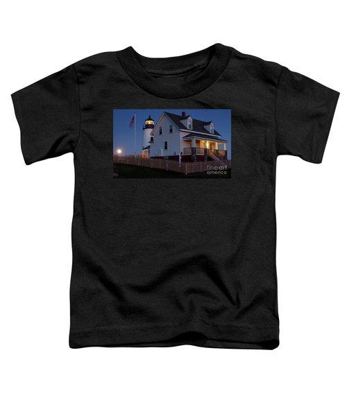 Full Moon Rise At Pemaquid Light, Bristol, Maine -150858 Toddler T-Shirt