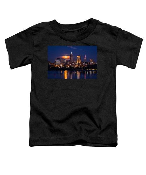 Full Moonrise Over Cleveland Toddler T-Shirt